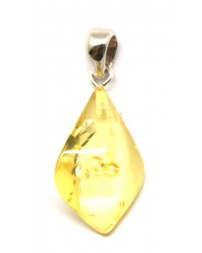 Lemon color Baltic amber pendant